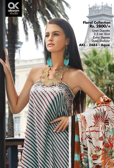 AlKaram Studio Trendy Winter Dresses Glamorous Fall Collection for Women 2014-2015 (1)