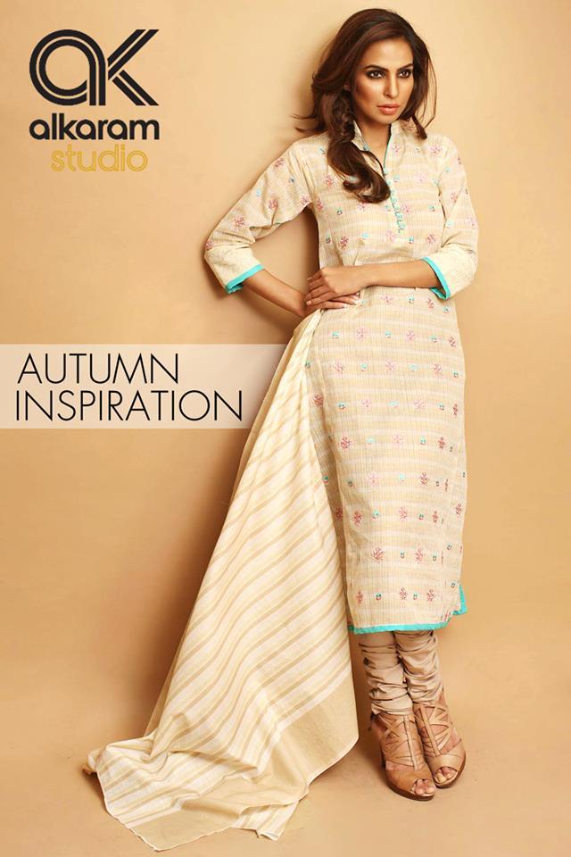 AlKaram Studio Trendy Winter Dresses Glamorous Fall Collection for Women 2014-2015 (11)