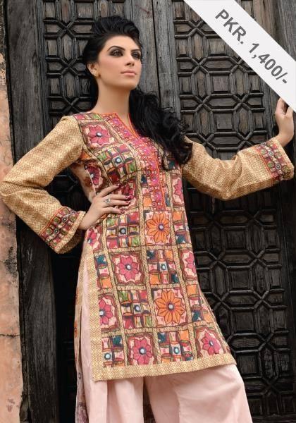 AlKaram Studio Trendy Winter Dresses Glamorous Fall Collection for Women 2014-2015 (17)