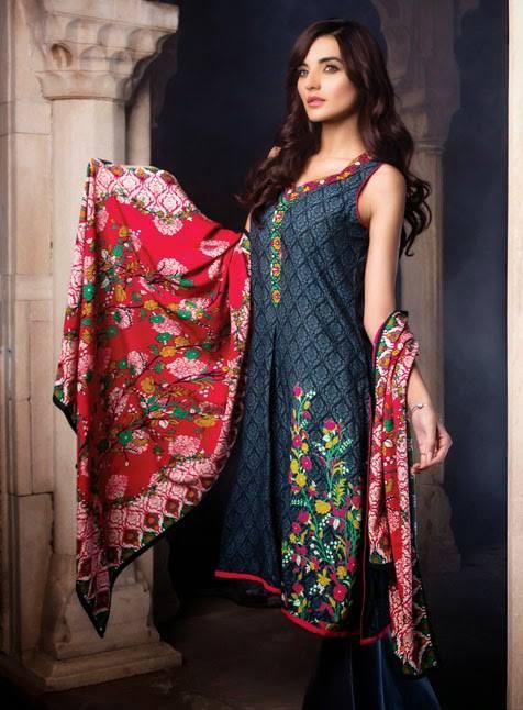 AlKaram Studio Trendy Winter Dresses Glamorous Fall Collection for Women 2014-2015 (18)