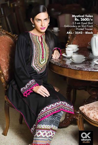 AlKaram Studio Trendy Winter Dresses Glamorous Fall Collection for Women 2014-2015 (19)