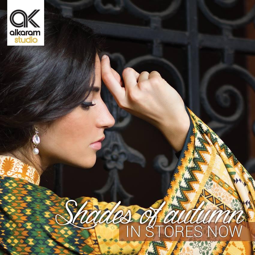 AlKaram Studio Trendy Winter Dresses Glamorous Fall Collection for Women 2014-2015 (2)