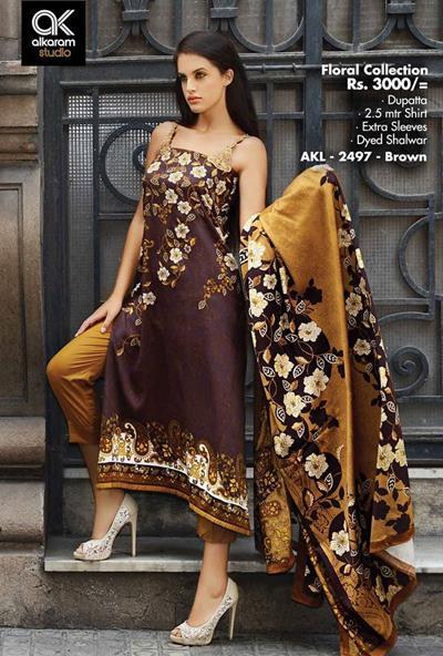 AlKaram Studio Trendy Winter Dresses Glamorous Fall Collection for Women 2014-2015 (20)