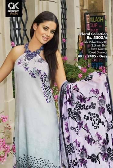 AlKaram Studio Trendy Winter Dresses Glamorous Fall Collection for Women 2014-2015 (21)