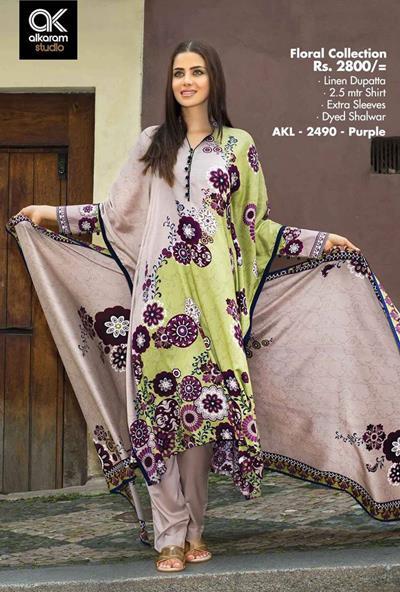AlKaram Studio Trendy Winter Dresses Glamorous Fall Collection for Women 2014-2015 (25)