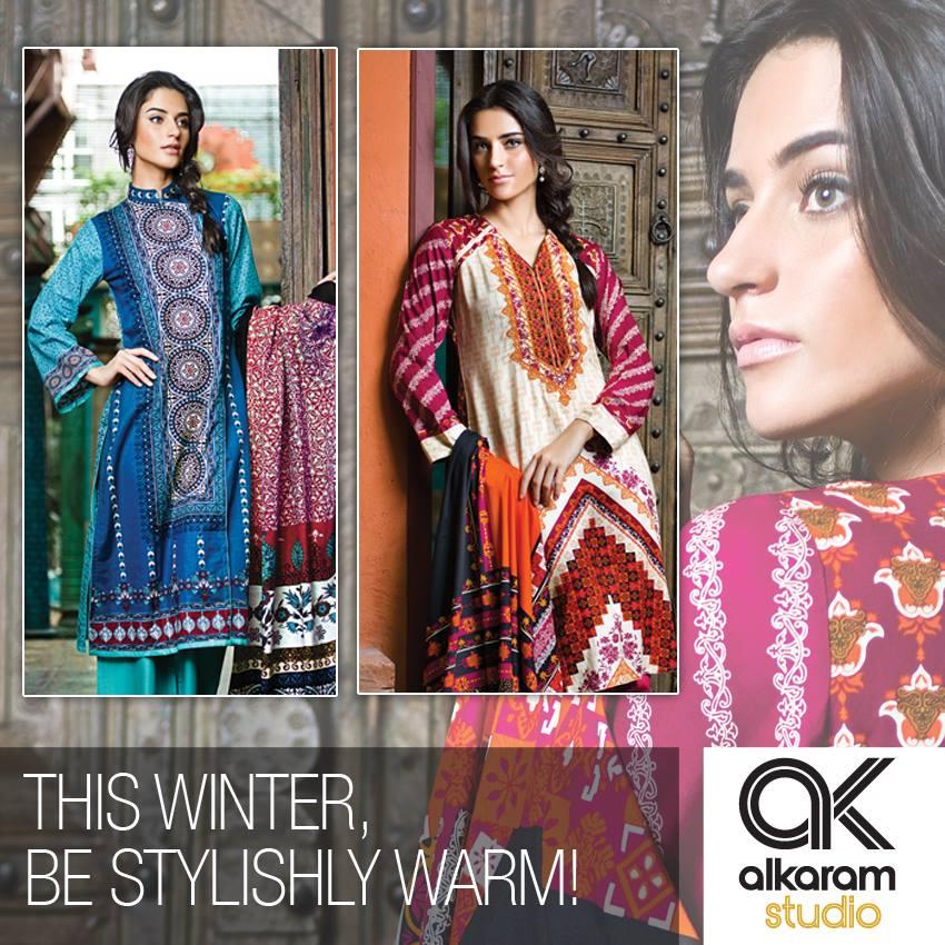 AlKaram Studio Trendy Winter Dresses Glamorous Fall Collection for Women 2014-2015 (3)