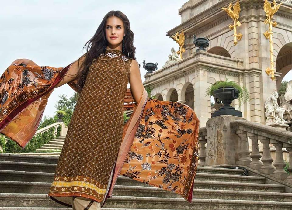 AlKaram Studio Trendy Winter Dresses Glamorous Fall Collection for Women 2014-2015 (5)