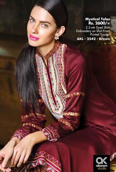 AlKaram Studio Trendy Winter Dresses Glamorous Fall Collection for Women 2014-2015 (6)