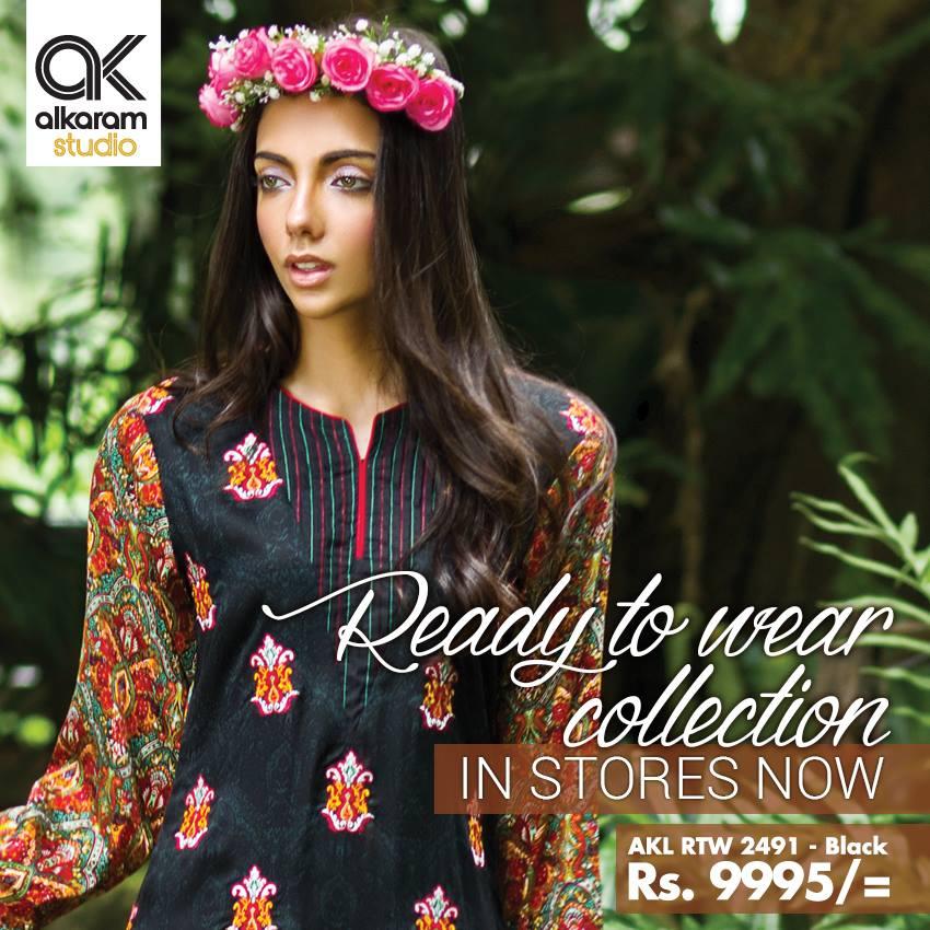 AlKaram Studio Trendy Winter Dresses Glamorous Fall Collection for Women 2014-2015 (9)