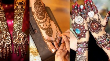 Best & Easy Indian Mehndi Designs Latest Collection for Hands & Feet 2015