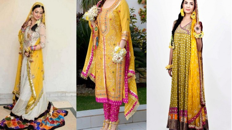 Best mehndi dresses designs for Women 2014-2015