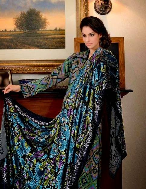 Gul Ahmed Best Winter Dresses Collection for Women 2014-2015 (13)