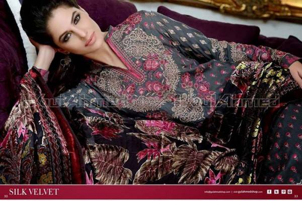 Gul Ahmed Best Winter Dresses Collection for Women 2014-2015 (5)