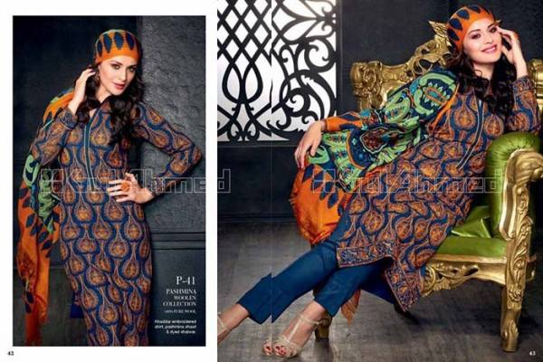 Gul Ahmed Best Winter Dresses Collection for Women 2014-2015 (7)