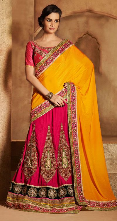 Latest Collection of Indian Lehenga Designs for wedding and Parties 2014- 2015 (16)