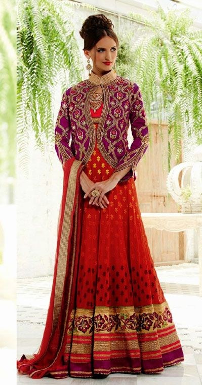Latest Collection of Indian Lehenga Designs for wedding and Parties 2014- 2015 (35)