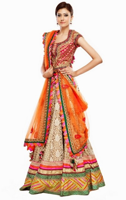 Latest Collection of Indian Lehenga Designs for wedding and Parties 2014- 2015 (7)
