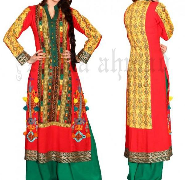 Latest Indian & Pakistani Best Neck-line (Gala) designs for Girls 2014-2015 (1)