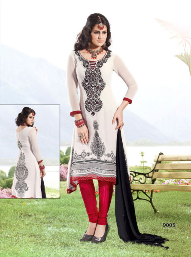 Latest Indian & Pakistani Best Neck-line (Gala) designs for Girls 2014-2015 (25)