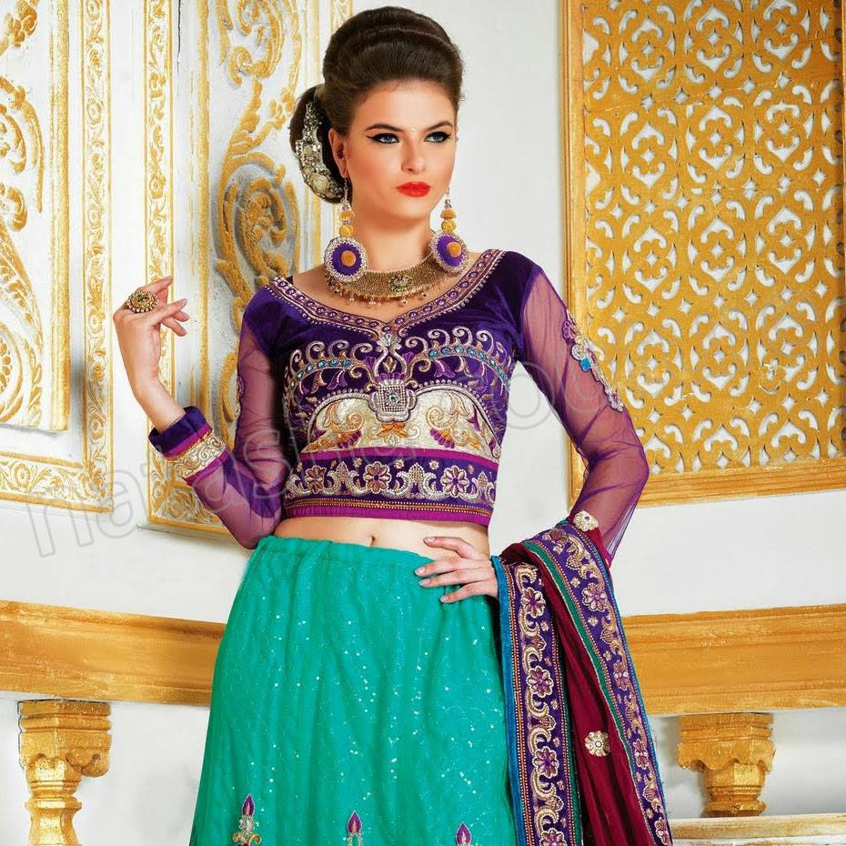 Latest Indian & Pakistani Best Neck-line (Gala) designs for Girls 2014-2015 (32)