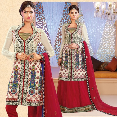 Latest Jacket Style Dresses Anarkali Suits & Gowns 2014-2015 for Girls (14)