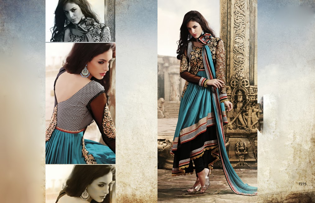 Latest Jacket Style Dresses Anarkali Suits & Gowns 2014-2015 for Girls (4)