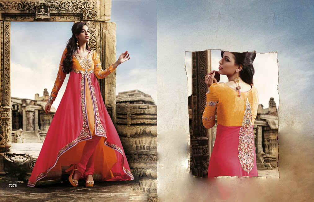 Latest Jacket Style Dresses Anarkali Suits & Gowns 2014-2015 for Girls (5)
