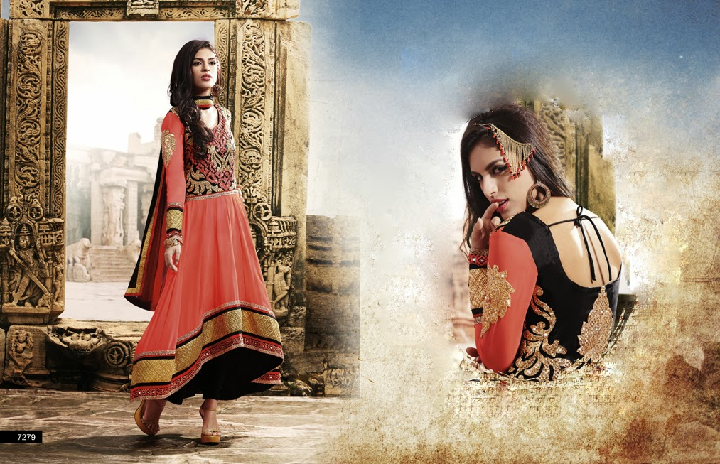 Latest Jacket Style Dresses Anarkali Suits & Gowns 2014-2015 for Girls (8)