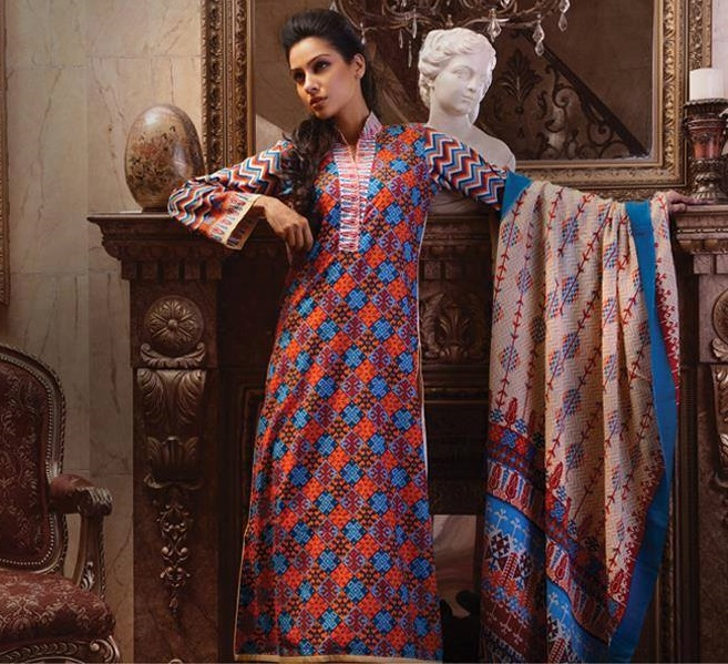 Latest Winter Fashion Long Shirts Dress Designs Collection for Women 2014-2015 (23)