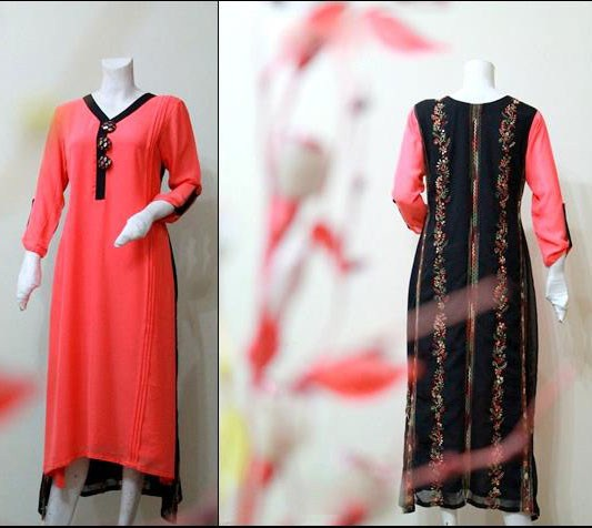 Latest Winter Fashion Long Shirts Dress Designs Collection for Women 2014-2015 (25)