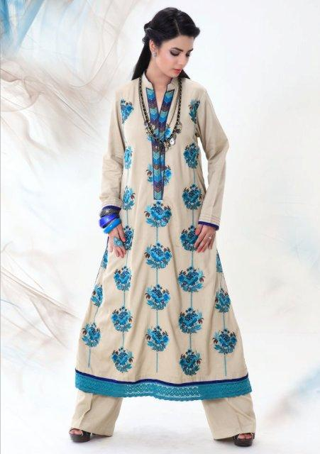 Latest Winter Fashion Long Shirts Dress Designs Collection for Women 2014-2015 (6)