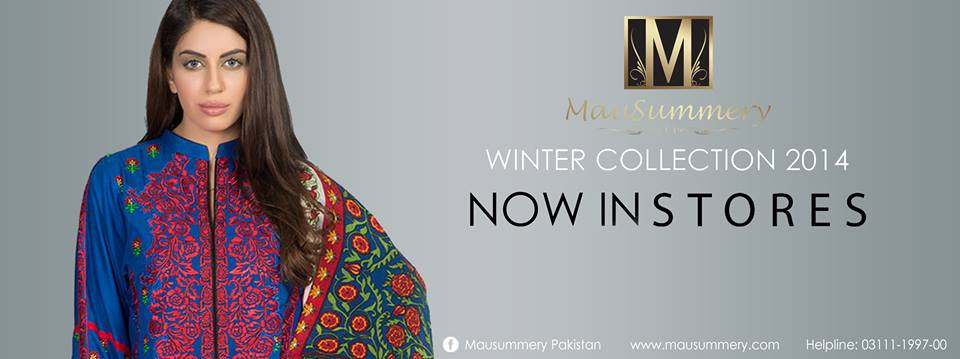 Mausummery Fall winter Dresses Collection 2014-15 with Prices for women (6)