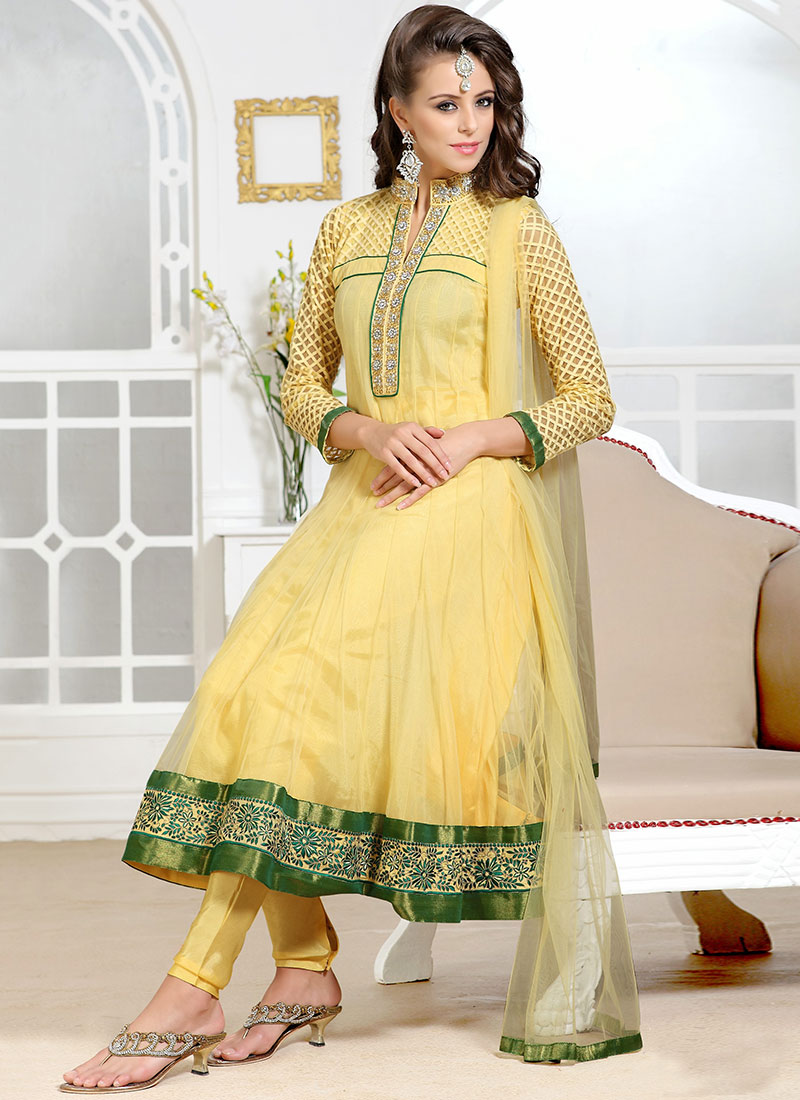 New Indian Kalidar Suits Salwar Kameez Dresses Collection for Girls 2014-2015 (1) - Copy