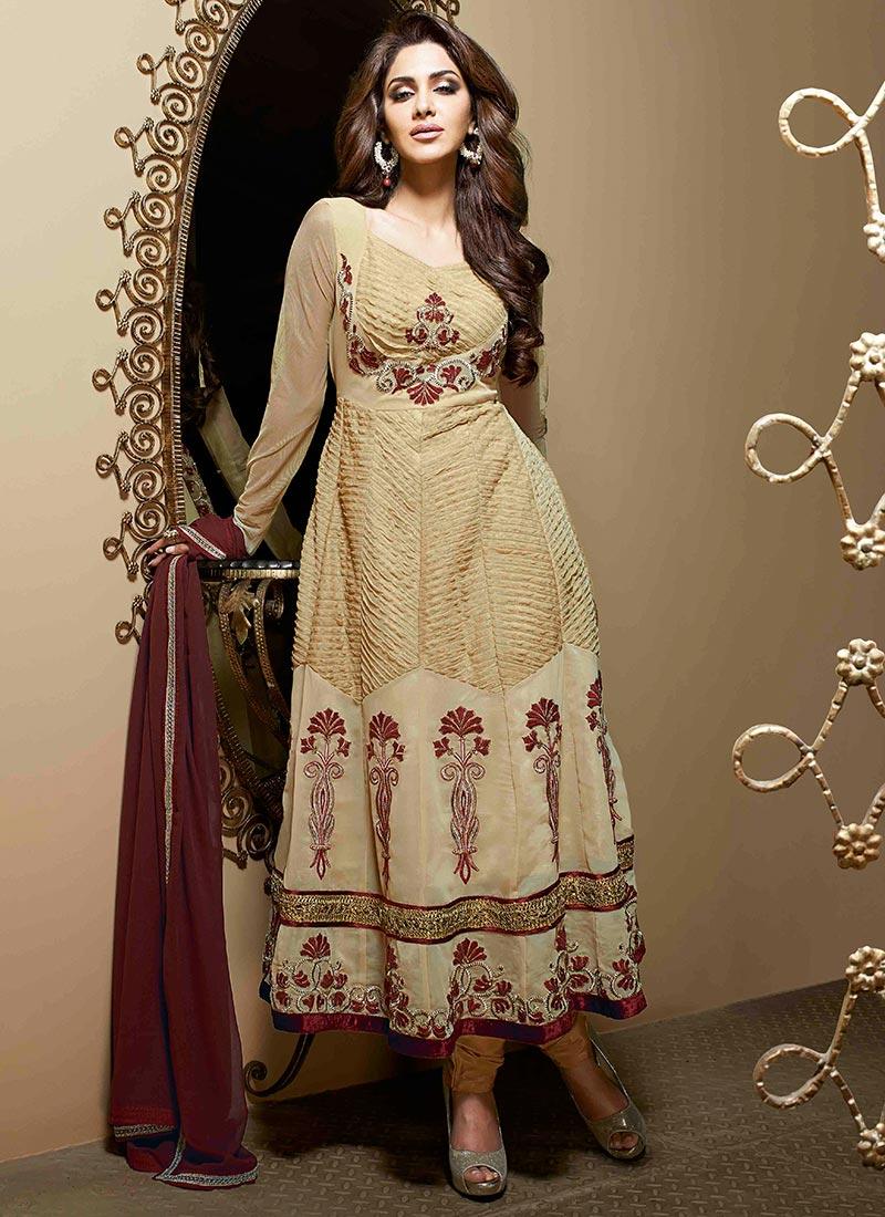 New Indian Kalidar Suits Salwar Kameez Dresses Collection for Girls 2014-2015 (13)