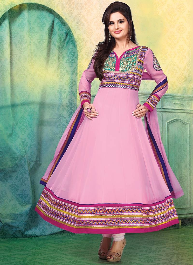 New Indian Kalidar Suits Salwar Kameez Dresses Collection for Girls 2014-2015 (14)