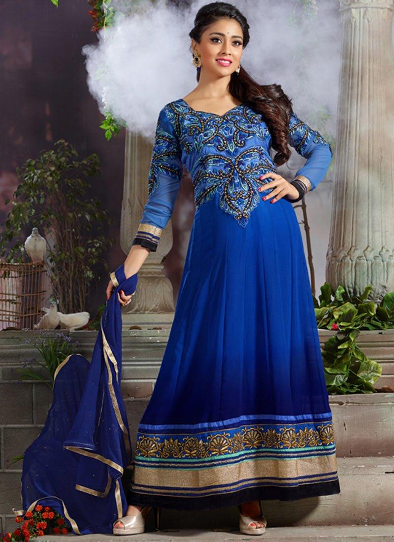 New Indian Kalidar Suits Salwar Kameez Dresses Collection for Girls 2014-2015 (15)