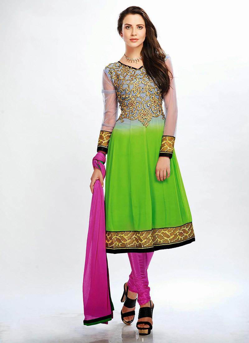 New Indian Kalidar Suits Salwar Kameez Dresses Collection for Girls 2014-2015 (16)