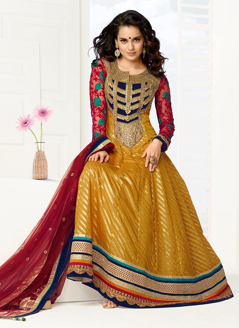 New Indian Kalidar Suits Salwar Kameez Dresses Collection for Girls 2014-2015 (17)