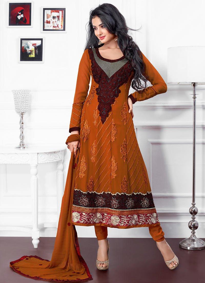 New Indian Kalidar Suits Salwar Kameez Dresses Collection for Girls 2014-2015 (18)