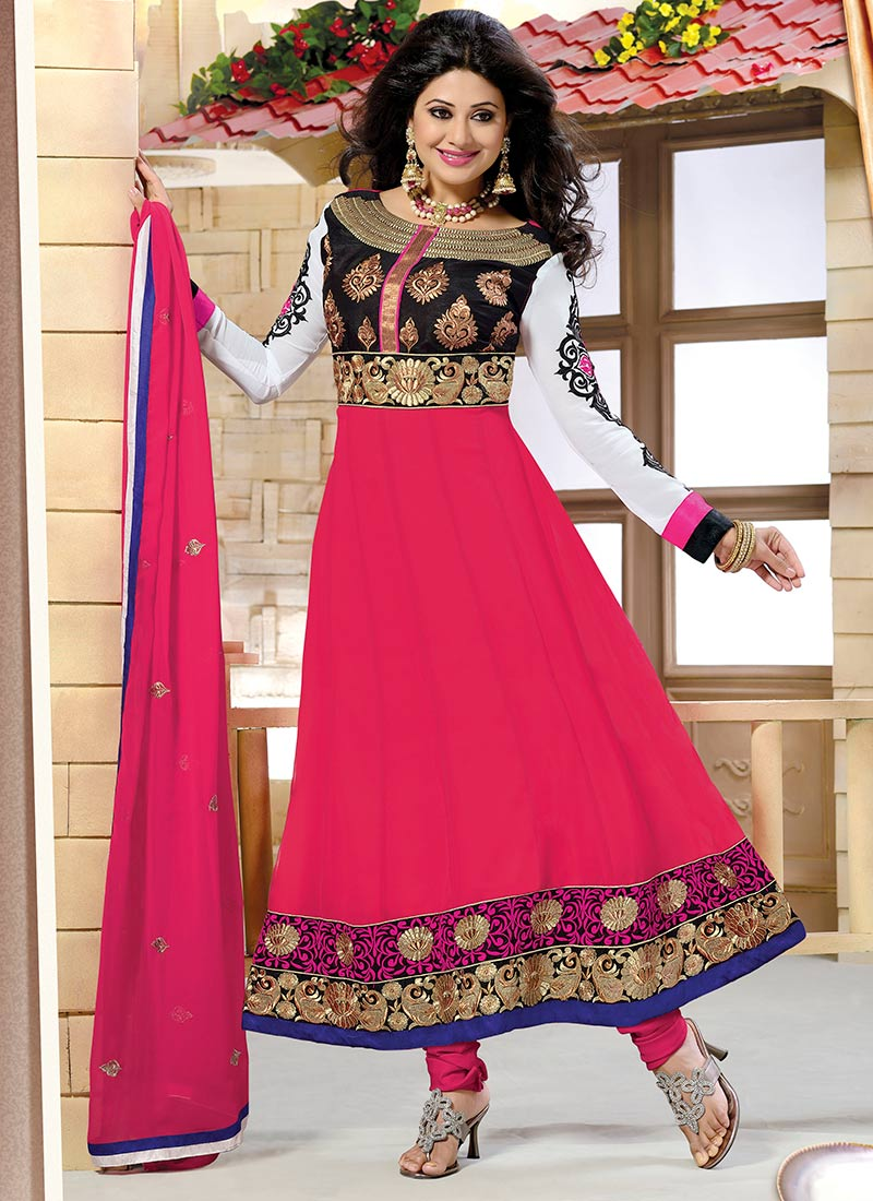 New Indian Kalidar Suits Salwar Kameez Dresses Collection for Girls 2014-2015 (2) - Copy