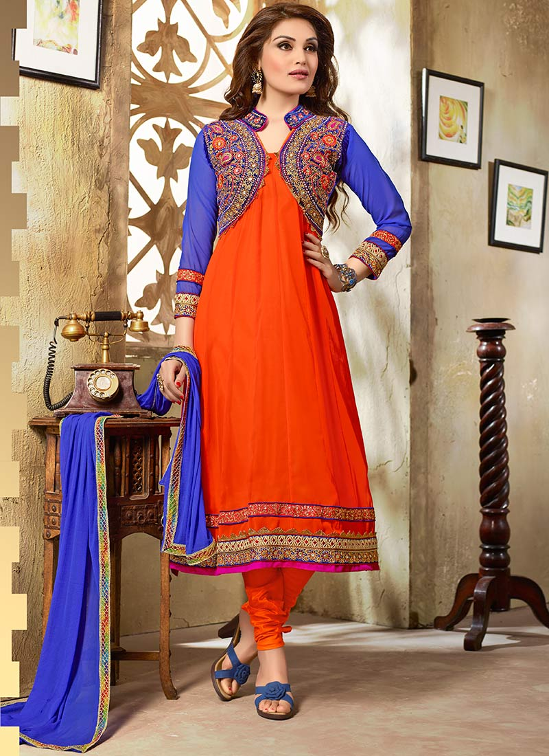 New Indian Kalidar Suits Salwar Kameez Dresses Collection for Girls 2014-2015 (21)