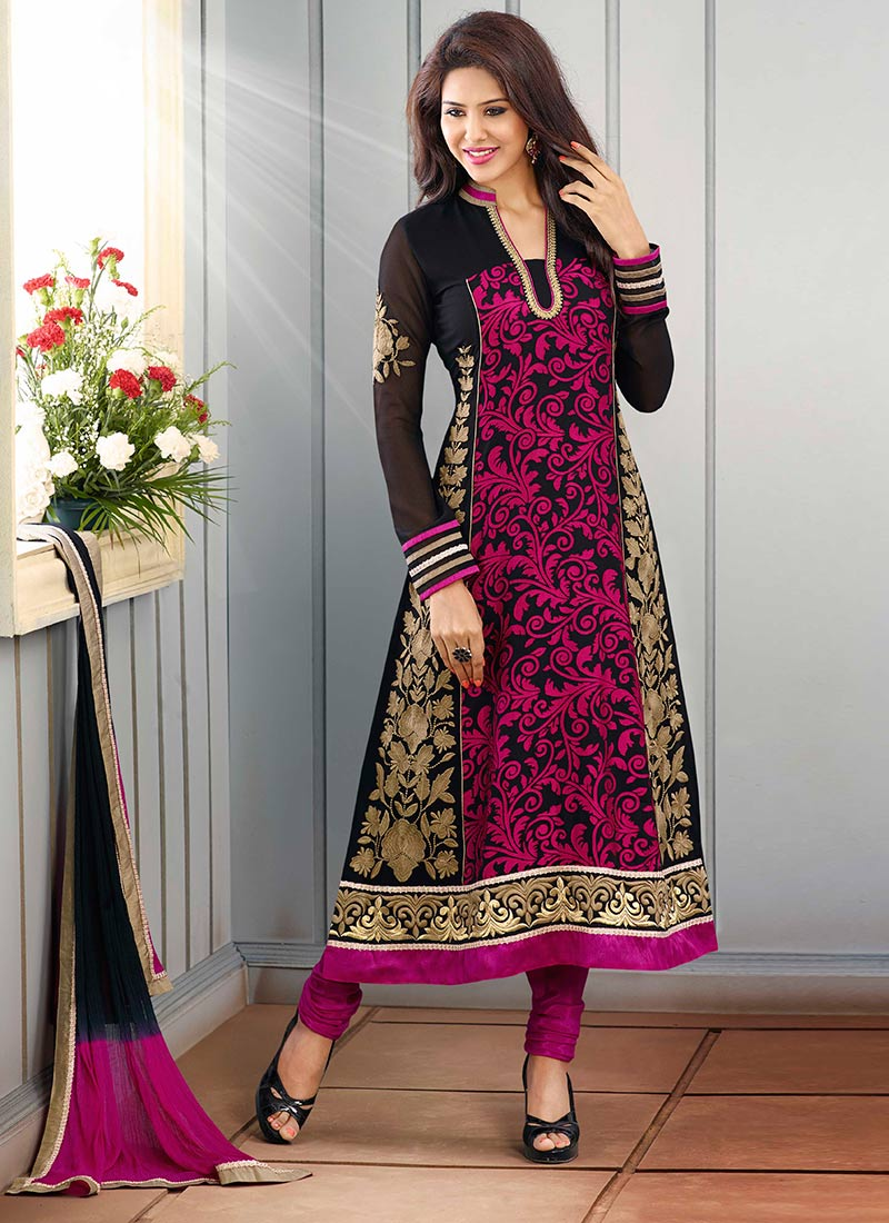 New Indian Kalidar Suits Salwar Kameez Dresses Collection for Girls 2014-2015 (27)