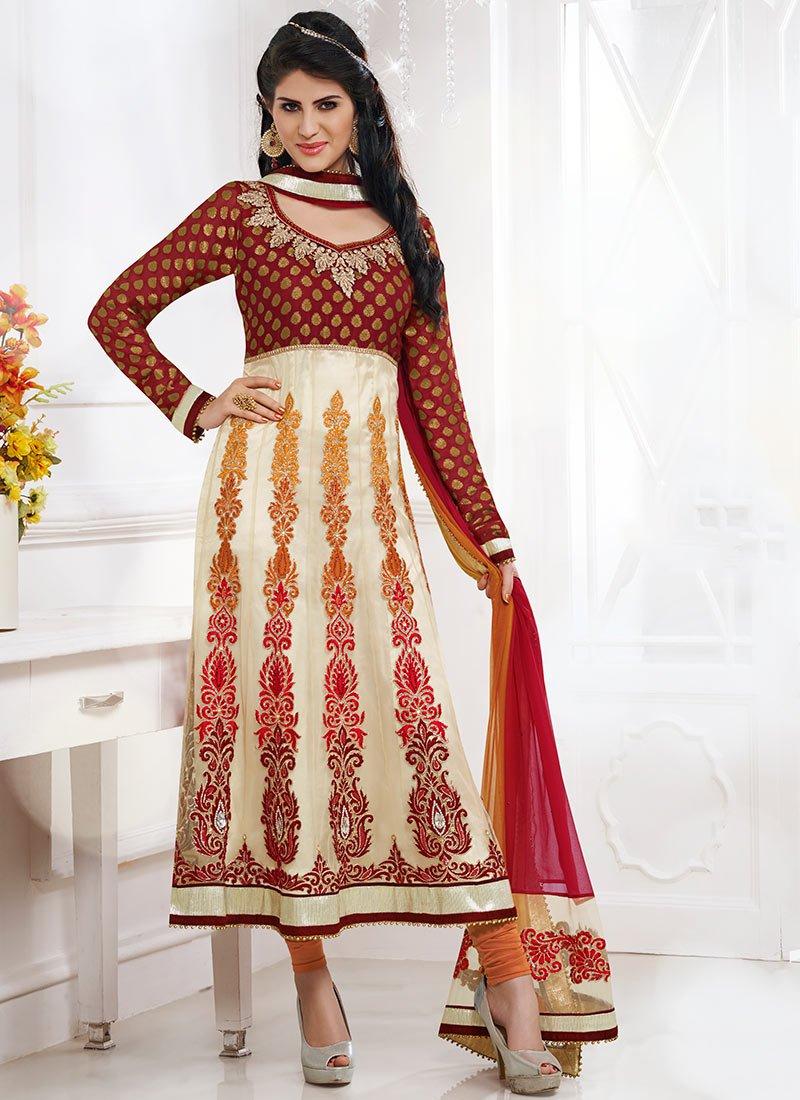 New Indian Kalidar Suits Salwar Kameez Dresses Collection for Girls 2014-2015 (3) - Copy