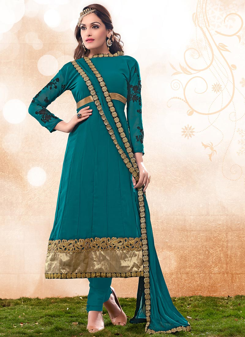 New Indian Kalidar Suits Salwar Kameez Dresses Collection for Girls 2014-2015 (4) - Copy