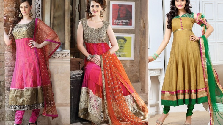 New Indian Kalidar Suits Salwar Kameez Dresses Collection for Girls 2014-2015