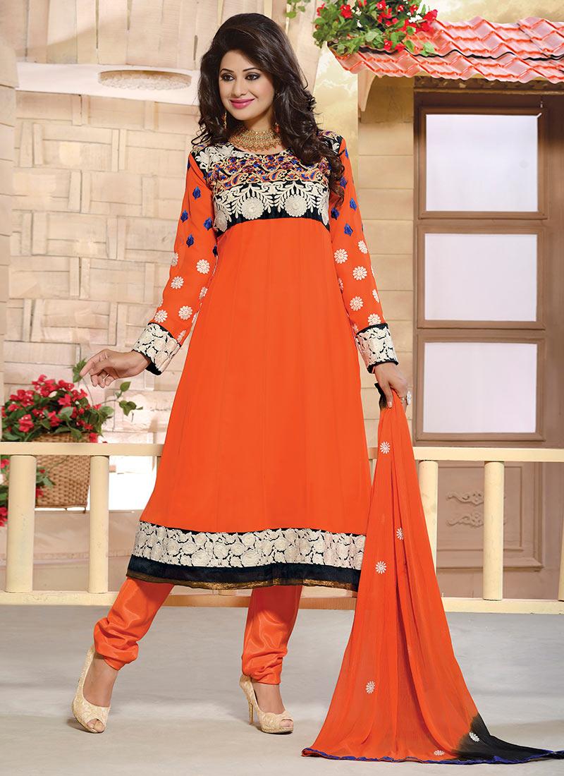 New Indian Kalidar Suits Salwar Kameez Dresses Collection for Girls 2014-2015 (9)