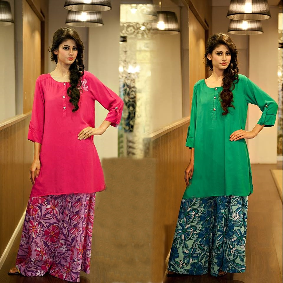 New Trends of Women Fashion Kurtis with Palazzo Pants in Asian Countries for Girls 2014-2015 (5)