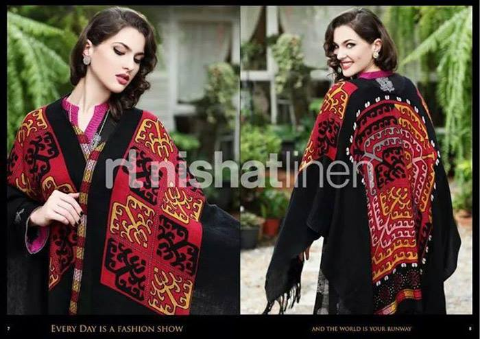 Nishat Linen Latest Winter Dresses Collection for Women 2014-2015 (10)