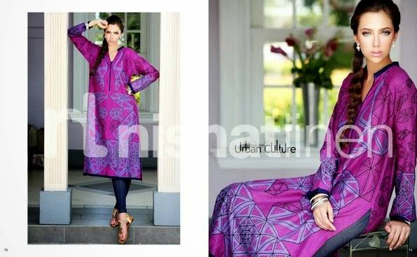 Nishat Linen Latest Winter Dresses Collection for Women 2014-2015 (12)