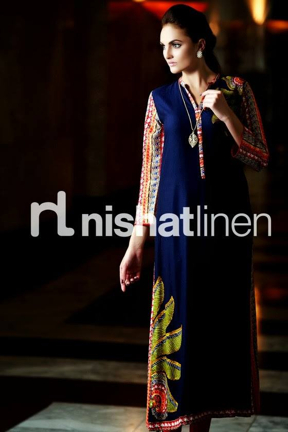 Nishat Linen Latest Winter Dresses Collection for Women 2014-2015 (15)
